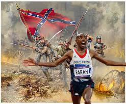 Meme Mo - mo farah running from the confederacy mo farah running away from