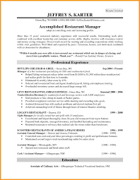 restaurant manager resume examples resume for your job application