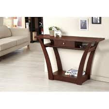 Walnut Sofa Table by Furniture Of America Olesca Dark Walnut Sofa Table With Drawer