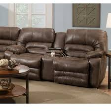 Loveseat Recliner With Console Legacy Faux Leather Collection