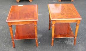Yew Side Table Antiques Atlas Pair Of Yew Wood Bedsides Small Side Tables 150