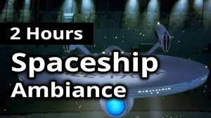 2 hours starship ambiance continuous engine spaceship bridge