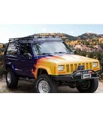 jeep cherokee xj sunroof jeep cherokee xj stealth rack multi light setup with sunroof
