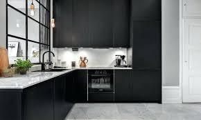 cuisine en noir cuisine noir mat cuisine noir mat et marbre cuisine mat ou