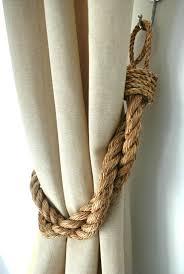 Nautical Curtain Fabric Rustic Manila Rope Curtain Tiebacks Shabby Chic Ties Vintage