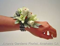 wrist corsage ideas of the corsage ideas white black and silver