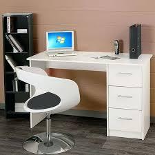 bureau avec rangement imprimante bureau avec rangements essentielle bureau classique blanc l 121 cm
