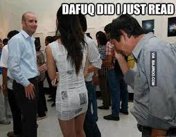 Funny Girl Meme - funny girl with newspaper dress meme bajiroo com