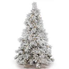artificial prelit christmas trees flocked christmas trees
