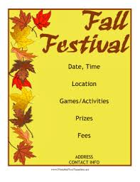 fall festival flyer png