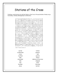 stations of the cross word search worksheet that resource site