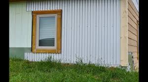Icf Cabin Off Grid Homestead Diy Corrugated Steel Siding Install On Icf