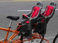 siege pour velo maxkite un vélo un adulte deux enfants