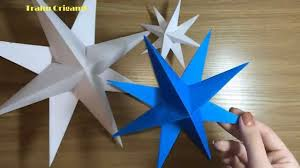 how to make a paper decoration 3d star for christmas diy tutorial
