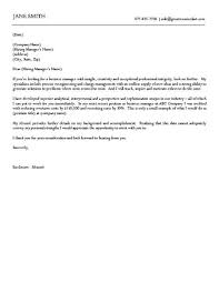 business cover letter example cover letter example letter