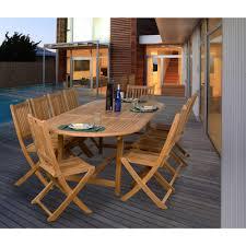 Teak Patio Outdoor Furniture by Amazonia Bergen 11 Piece Teak Patio Dining Set Sc Bergen The