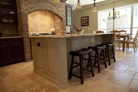 Rustic Kitchen Hoods - kitchen classic brick wall backsplash in the rustic kitchen