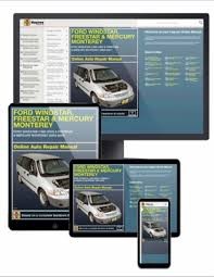 online car repair manuals free 1995 ford windstar engine control ford mercury van repair manuals by chilton haynes