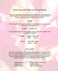 wedding program format 6 wedding program free sle exle format