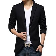 ipretty s suit jacket fashion slim cotton thin casual two