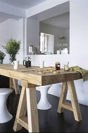 la cuisine belgique splendide table en bois brut dans salle à manger avec ouverture