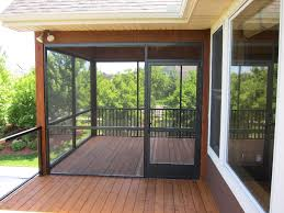 screened porch panels with glass