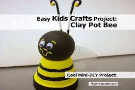 easy kids crafts project clay pot bee