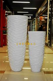 112 wavy white large floor vase modern fashion flower brief