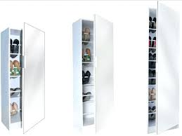 Mirrored Storage Cabinet Shoe Storage Cabinet With Full Length Mirror Kristal Tall Shoe