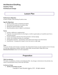Architectural Drafter Resume Architectural Drafting Lesson Plan Auxiliary Views Architectural