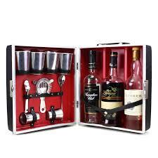 travel bar images Vintage travel bar 3 bottle cocktail case bar tool accessories png