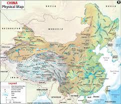 map of china physical map of china china physical map