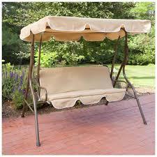 Patio Furniture Swing Set - abba patio outdoor veranda 3 triple seater hammock canopy swing