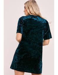 shoptagr amori green crushed velvet oversized t shirt dress by