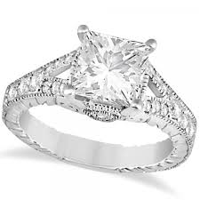 princess cut engagement rings white gold antique princess cut engagement ring 14k white gold 1 03ct