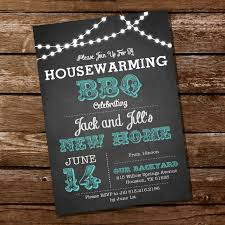 Cards For Housewarming Invitation Chalkboard Housewarming Bbq Invitation Housewarming Party