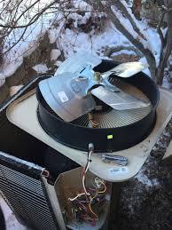 diy replacing the fan on a heat pump