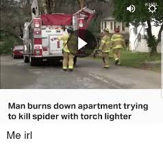 Kill Spider Meme - rdn man burns down apartment trying to kill spider with torch