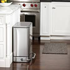 Kitchen Garbage Can Cabinet Kitchen Stainless Steel Kitchen Trash Can In Beautiful White
