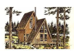 A Frame Floor Plan Eplans A Frame House Plan One Bedroom A Frame 535 Square Feet