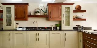 combination walnut and painted shaker kitchen harvey blog