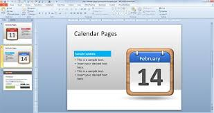 free powerpoint calendar template 2014 calendars office templates