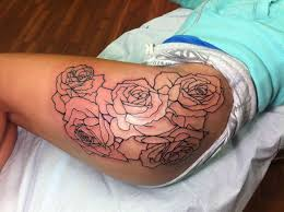 skull thorns ink outline pinterest skull 3 roses tattoos outline