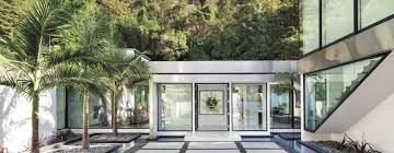 Modern Two Storey House With Streamline Roof by A Modern Los Angeles Retreat With A Streamlined Palette Features