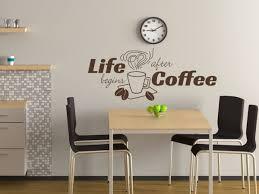 Esszimmer Graue Wand Wandtattoo Küche Life Begins After Coffee Nr 1 Wandtattoo Bilder De