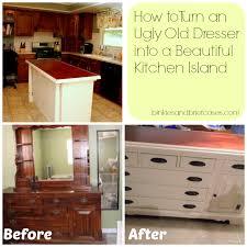 dresser kitchen island diy kitchen island from dresser photogiraffe me