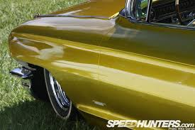 car spotlight u003e u003eflaked caddy on the grass speedhunters