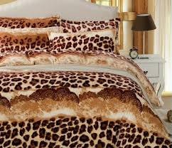 Leopard Comforter Set King Size Leopard Bedding Queen Size With Black Background And Leopard