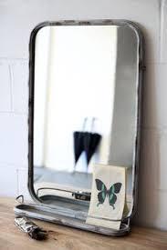 Bathroom Mirror Vintage Metal Wall Mirror With Shelf Remodel Pinterest Metal Walls