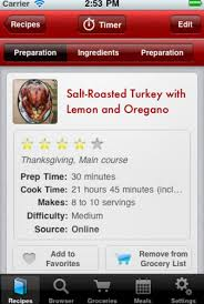 for the thanksgiving cook a recipe manager to celebrate app
